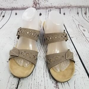 NEW STUDIO WORKS SANDALS WEDGE TAN 11 M